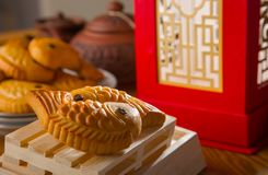 Chinese mooncake biscuit Stock Image