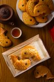 Chinese mooncake biscuit Stock Photo