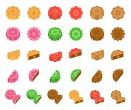 Chinese Mooncake for mid autumn festival in various taste Stock Photography
