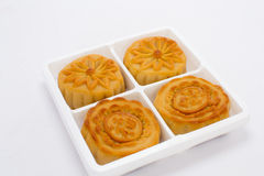 Chinese-mooncakes-isolated Royalty Free Stock Image