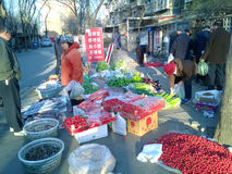 Chinese morning market Stock Photo