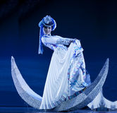 Chinese Mosuo national dancer Royalty Free Stock Photo