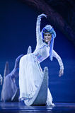 Chinese Mosuo national dancer Royalty Free Stock Photography