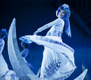 Chinese Mosuo national dancer Stock Image