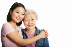 Chinese Mother With Adult Daughter Stock Photo