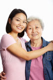Chinese Mother With Adult Daughter Stock Image
