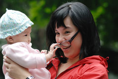 Free Chinese Mother And Baby Royalty Free Stock Photo - 21037085