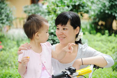 Chinese mother and baby Stock Image