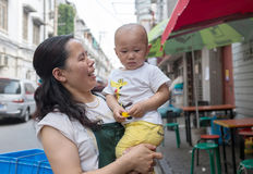Chinese mother and child Stock Photography