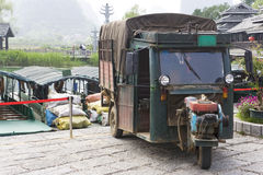 Chinese Motorised Three Wheel Transport Royalty Free Stock Photo