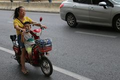Chinese motorists royalty free stock photos