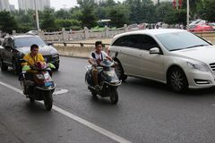 Chinese motorists stock images