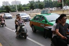 Chinese motorists royalty free stock photo