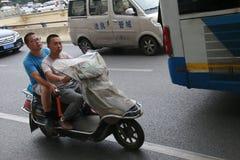 Chinese motorists stock photo