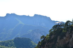 Chinese mountain with trees Royalty Free Stock Image