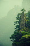 Chinese Mountains. The inspiration for much traditional Chinese calligraphy is Huangshan, a mountain in china Royalty Free Stock Photos