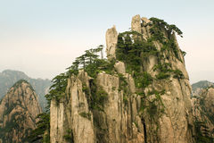 Chinese mountains. The worldwide famous peaks of Huangshan in China Stock Image