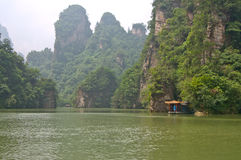 Chinese Mountian in the Natural Park Zhangjiajie Royalty Free Stock Photos