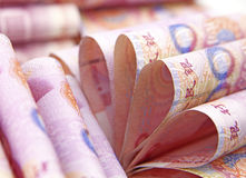 Chinese munt Stock Afbeelding