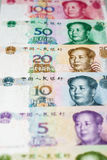 Chinese munt en calculator Royalty-vrije Stock Afbeeldingen