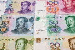 Chinese munt en calculator Stock Foto
