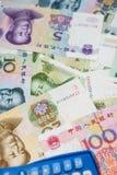 Chinese munt en calculator Stock Afbeeldingen