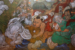 Chinese Mural in jingdezhen Stock Photography