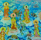 Chinese mural. On temple wall, Thailand Royalty Free Stock Photo