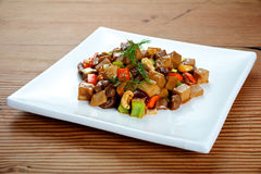 Chinese Mushroom Beef dish Stock Photo