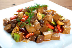 Chinese Mushroom Beef dish Stock Images