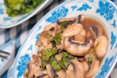 Chinese mushroom dish Royalty Free Stock Photography