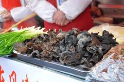 Chinese Mushrooms. Some street market Mushrooms in Beijing China stock photos