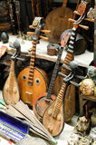 Chinese musical instruments. In the secondary market on the old China musical instruments Stock Photo
