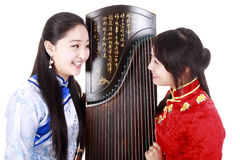 Chinese musicians royalty free stock images