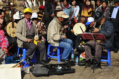 Chinese Musicians Royalty Free Stock Photography