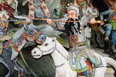 Chinese Mythical Warrior Royalty Free Stock Photo