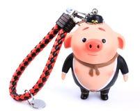 Chinese mythology Pig toy ornaments. Isolated on white background royalty free stock images