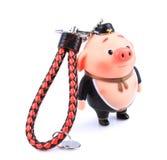 Chinese mythology Pig toy ornaments. Isolated on white background stock photos
