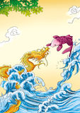 CHINESE MYTHS&LEGENDS  Fish Jump Stock Images
