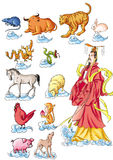 CHINESE MYTHS&LEGENDS:twelve Chinese zodiac signs Stock Photography