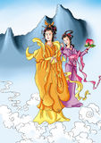 CHINESE MYTHS&LEGENDS the queen and her flat peach fairy Royalty Free Stock Photo