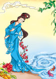 Chinese myths and legends: beauty xi shi Royalty Free Stock Images