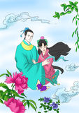 Chinese myths and legends:the butterfly lovers Stock Photography