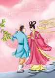 CHINESE MYTHS&LEGENDS daisy fairy Royalty Free Stock Image