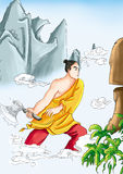 CHINESE MYTHS&LEGENDS Wu gang felling laurel Royalty Free Stock Images