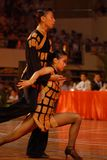 Absorbed-China Nanchang international standard dance National Open. 2007 Chinese Nanchang international standard dance national open was held in the gymnasium of Royalty Free Stock Photos