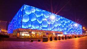 Chinese National Aquatics Center ( Water Cube) Royalty Free Stock Photos