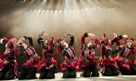 Chinese national dancers Royalty Free Stock Photo