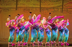 Chinese national dancers Stock Photo