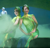 Chinese national dancers Royalty Free Stock Images